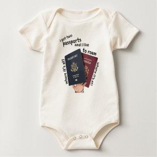 Body Para Bebé 2 pasaportes