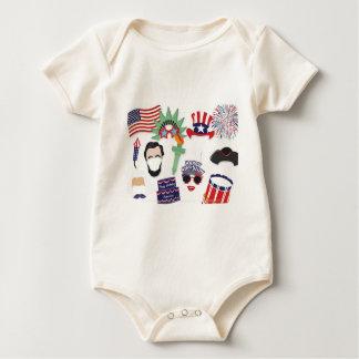 Body Para Bebé 4to del día de fiesta de julio - Día de la