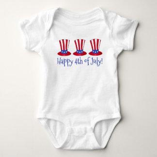 Body Para Bebé 4to feliz del gorra patriótico América del tío Sam