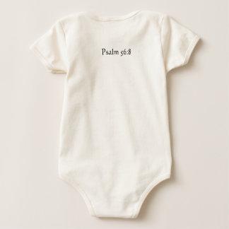 Body Para Bebé 56:8 onsy infantil del salmo del verso de la