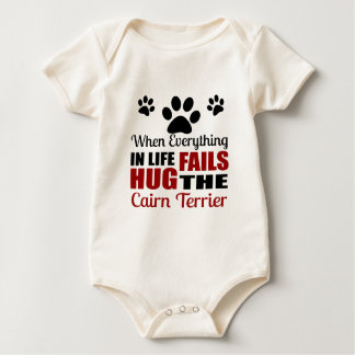 Body Para Bebé Abrace el perro de Terrier de mojón