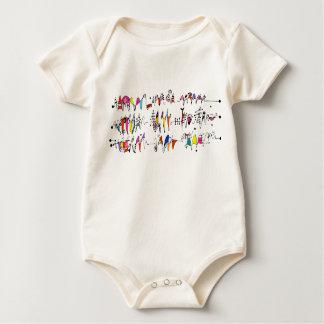 Body Para Bebé Abstracción de líneas onduladas