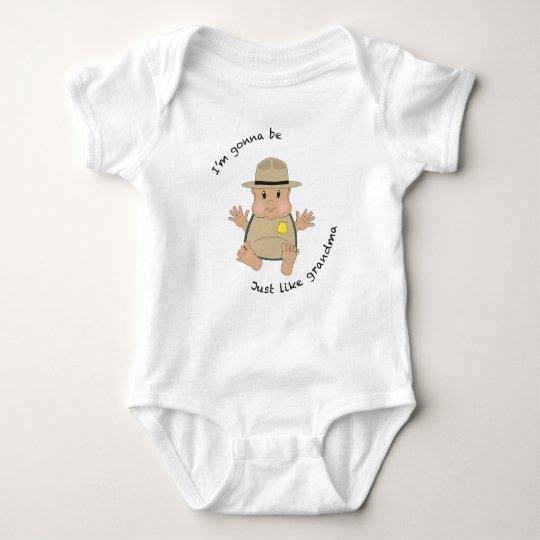 Body Para Bebé Abuela del guarda del parque