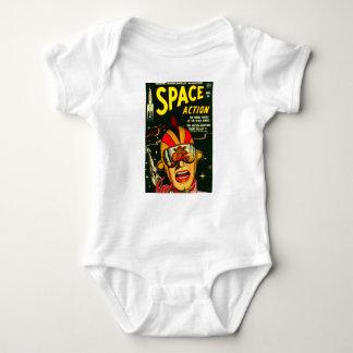 Body Para Bebé Acción del espacio: ¡EEK!  ¡Un monstruo!
