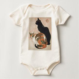 Body Para Bebé Acuarela - 2 gatos - Théophile Alejandro Steinlen