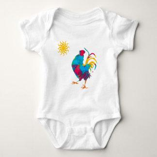 Body Para Bebé Acuarela colorida del gallo del mascota de la