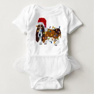 Body Para Bebé Afloramiento enredado en luces de navidad