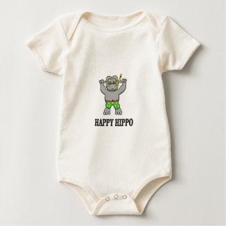 Body Para Bebé agua feliz del hipopótamo