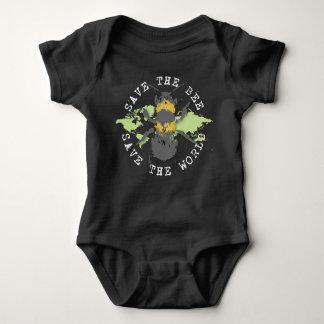 Body Para Bebé ¡Ahorre la abeja! ¡Ahorre el mundo! Colección del