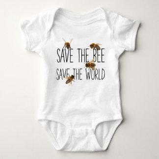 Body Para Bebé ¡Ahorre la abeja! ¡Ahorre el mundo! Vive el diseño