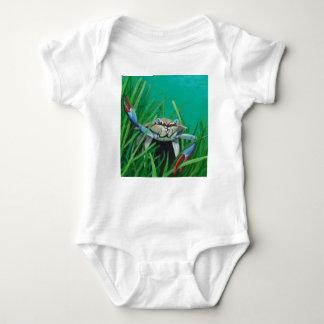 Body Para Bebé Ahoy resuelve el cangrejo inferior del mar del
