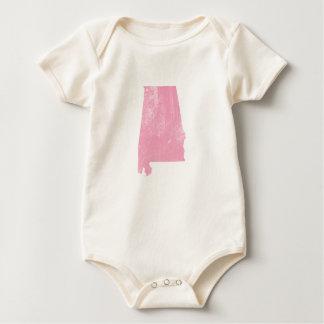 Body Para Bebé Alabama - Grunge rosado del vintage