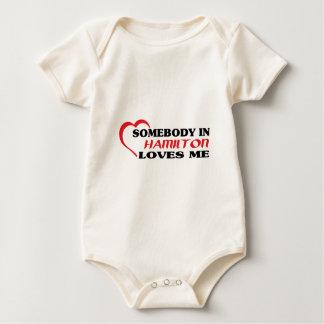 Body Para Bebé Alguien en Hamilton me ama