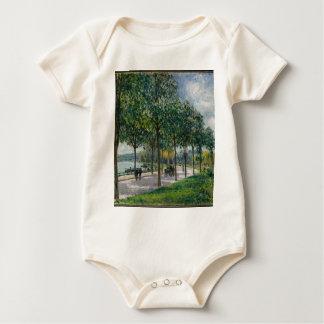 Body Para Bebé Allée de los árboles de castaña - Alfred Sisley