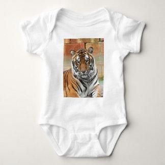 Body Para Bebé Alquileres Tigres en la reflexión