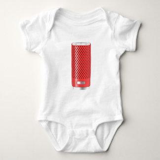 Body Para Bebé Altavoz elegante rojo