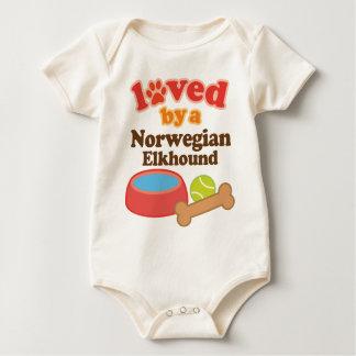Body Para Bebé Amado por un Elkhound noruego (raza del perro)