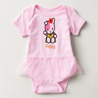 Body Para Bebé Amapola el mono del tutú del bebé del perrito