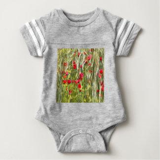 Body Para Bebé Amapolas de maíz rojas