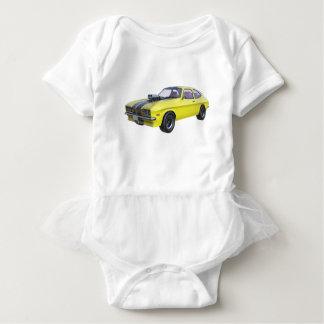 Body Para Bebé Amarillo del coche de 1970 músculos con la raya