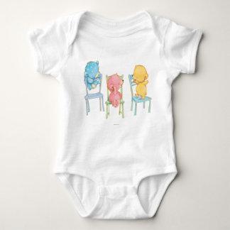 Body Para Bebé Amarillo, rosado, y azul refiere sillas