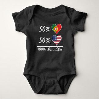Body Para Bebé Americano del portugués el 50% del 50% el 100%