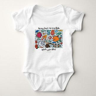 Body Para Bebé Amigos coloridos de los pescados