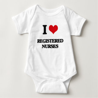 Body Para Bebé Amo a enfermeras registradoas