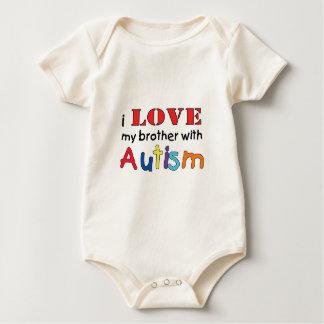 Body Para Bebé Amo a mi hermano con autismo