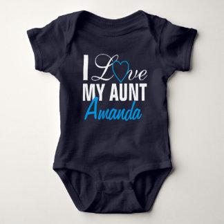 Body Para Bebé Amo a mi Tía- tía Name. Por encargo