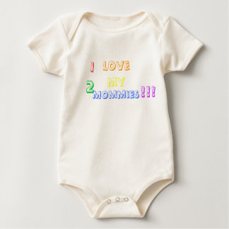Body Para Bebé ¡Amo a mis 2 mamás!!!