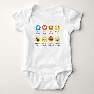 Body Para Bebé Amo al Social del Emoticon de la danza (emoji) (la
