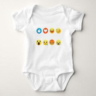 Body Para Bebé Amo al Social del Emoticon del hockey (emoji) (la