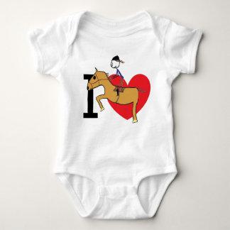 Body Para Bebé Amo el montar a caballo