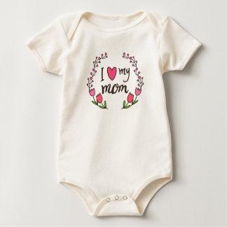 Body Para Bebé Amo mi mono del día de madre de la mamá el |