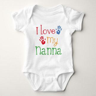 Body Para Bebé Amo mi Nanna Handprints