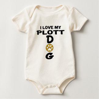 Body Para Bebé Amo mis diseños del perro de Plott