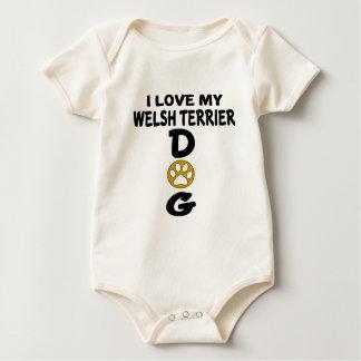 Body Para Bebé Amo mis diseños del perro de Terrier galés