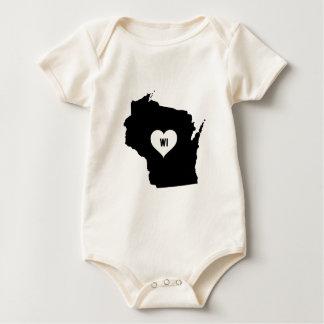 Body Para Bebé Amor de Wisconsin