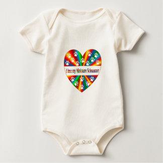 Body Para Bebé Amor del Schnauzer miniatura