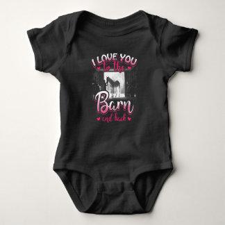 Body Para Bebé Amor y deporte del montar a caballo