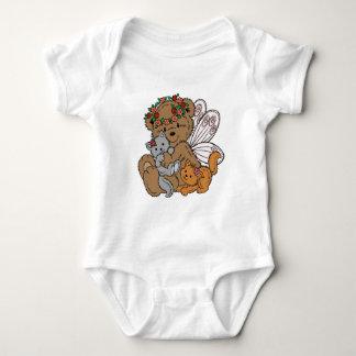 Body Para Bebé Ángel del oso con los gatitos