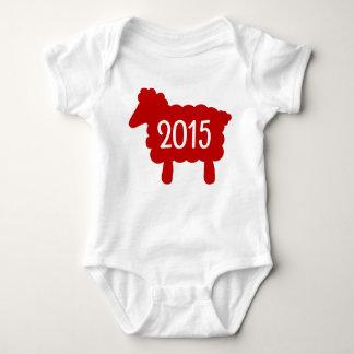 Body Para Bebé Año del bebé 2015 de las ovejas