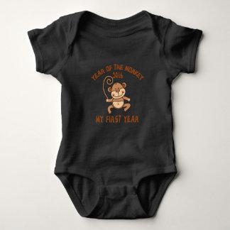 Body Para Bebé Año del bebé 2016 del mono