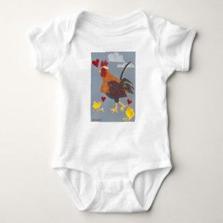 Body Para Bebé Año del equipo 2017 del bebé del gallo