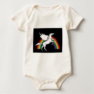 Body Para Bebé ANUNCIO que salta el arte de Pegaso