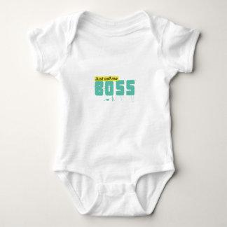 Body Para Bebé Apenas llámeme jefe cuerpo unisex para los bebés