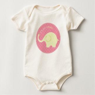 Body Para Bebé Apenas un rosa del cacahuete