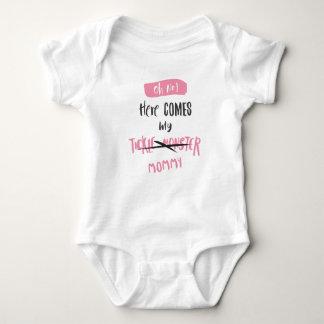 Body Para Bebé ¡Aquí viene el monstruo de las cosquillas - mamá!