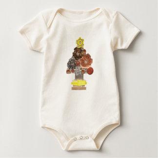 Body Para Bebé Árbol de Steampunk ningún fondo Babygro orgánico